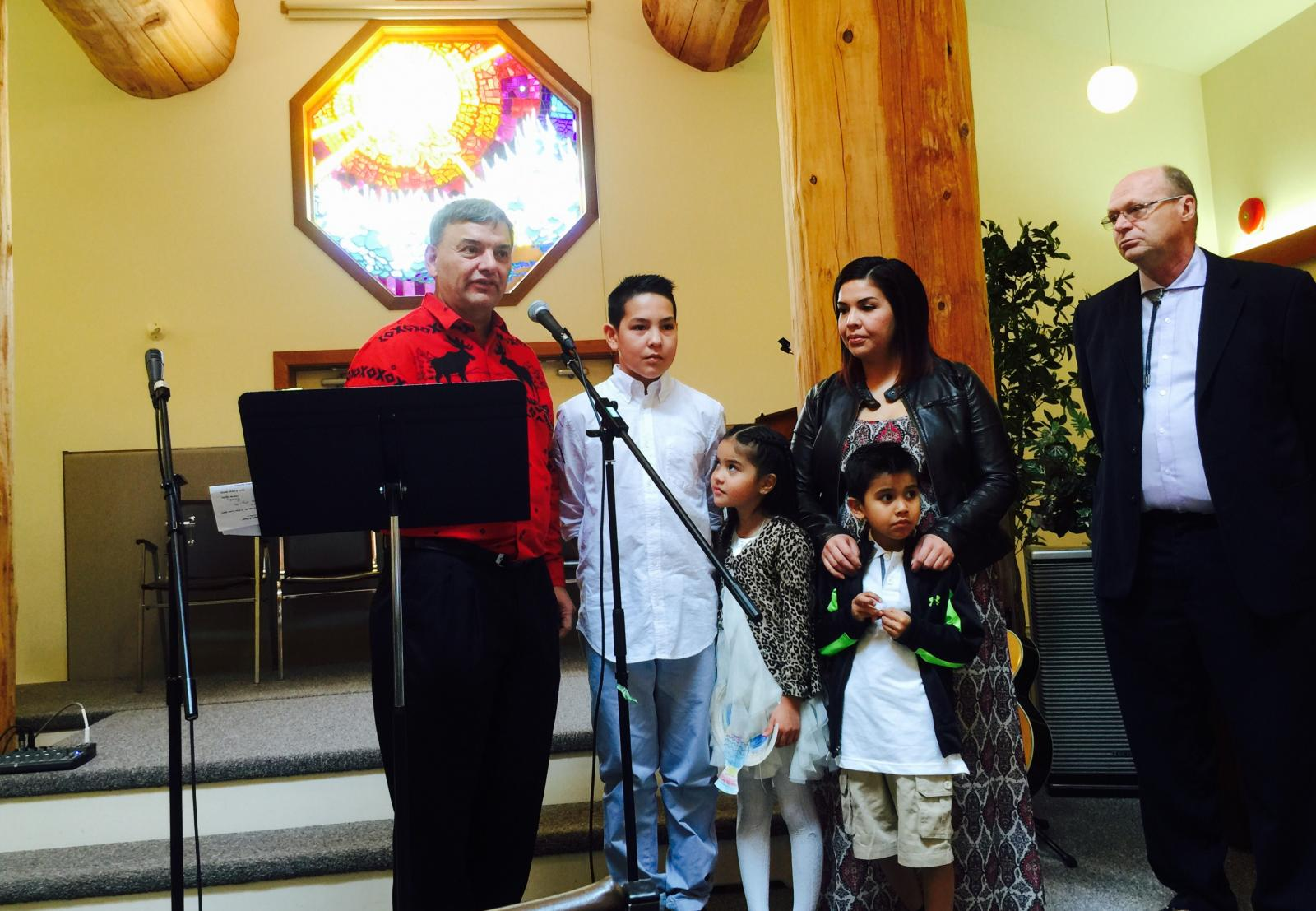 Welcome of new baptized members