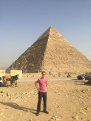 Kevin at Giza