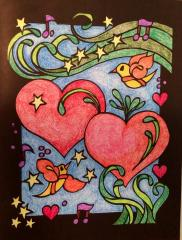 Dover hearts- colouring